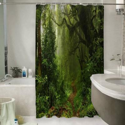 Шторы для ванной «Тропический лес»