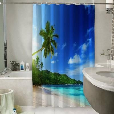 Шторы для ванной «Пальма на пляже»