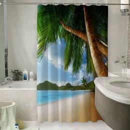 Шторы для ванной «Пляж»