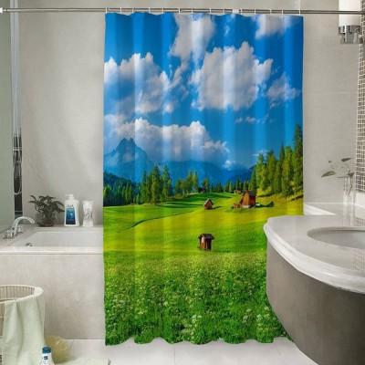 Шторы для ванной «Деревня в альпийской долине»