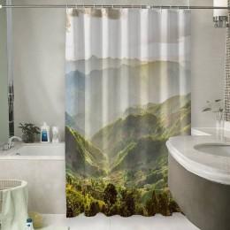 Шторы для ванной «Зеленая долина»