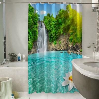 Шторы для ванной «Водопад с кувшинкой»