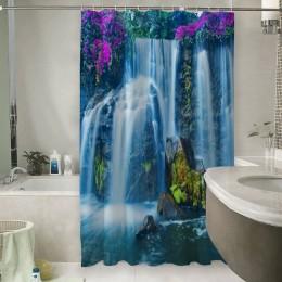 Шторы для ванной «Горный водопад»