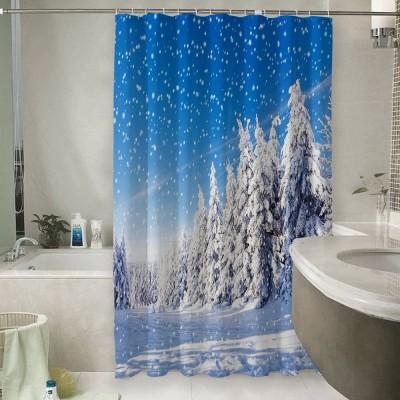 Шторы для ванной «Зимний пейзаж»