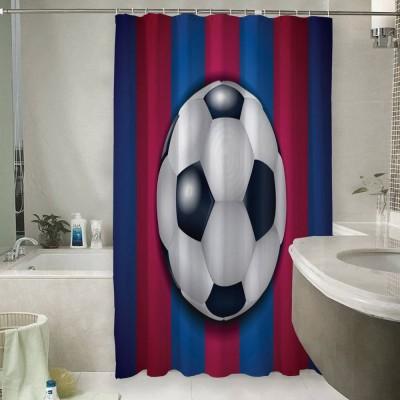 Шторы для ванной «Мяч на полосах»