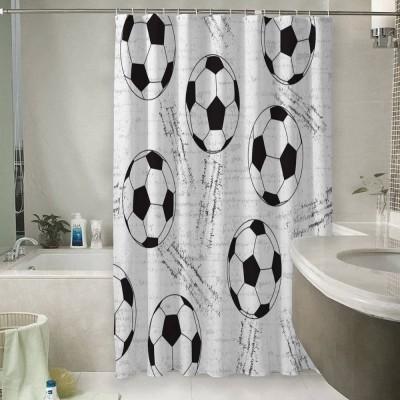 Шторы для ванной «Узор из футбольных мячей»