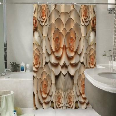 Шторы для ванной «Розы с тиснением под керамику»