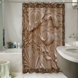 Шторы для ванной «Резьба по дереву в китайском стиле»
