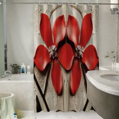 Шторы для ванной «Цветы на штукатурке»
