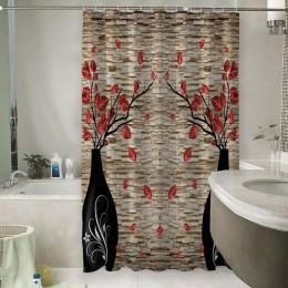 Шторы для ванной «Вазы на декоративном камне»