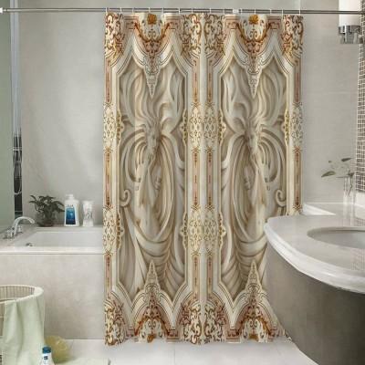 Шторы для ванной «Рельефные девушки с орнаментом»