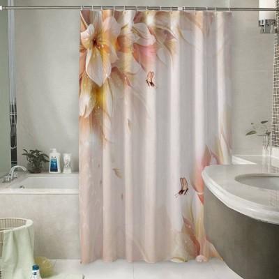 Шторы для ванной «Волшебные цветы с бабочками»