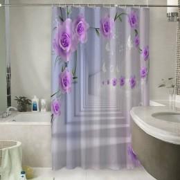 Шторы для ванной «Тоннель с розами»