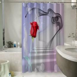 Шторы для ванной «Красная роза в тоннеле»