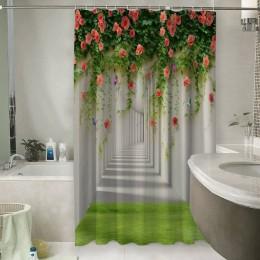Шторы для ванной «Тоннель с лианами роз»