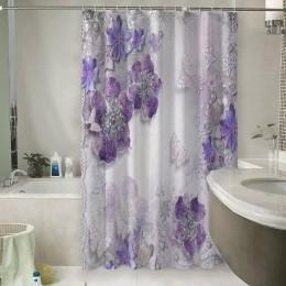 Шторы для ванной «Ювелирные фиолетовые цветы»