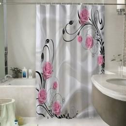 Шторы для ванной «Розы на шелке»
