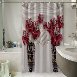 Шторы для ванной «Инсталляция с античными вазами»