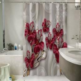 Шторы для ванной «Драгоценные лилии»