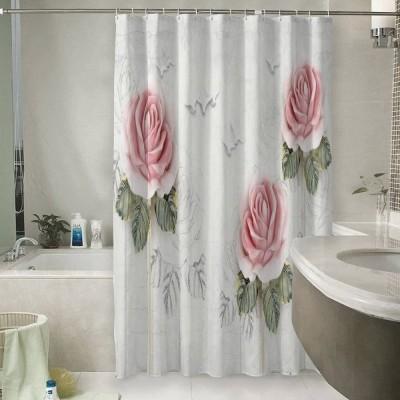 Шторы для ванной «Оттиск с розами»