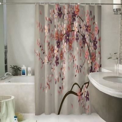 Шторы для ванной «Персиковое дерево»