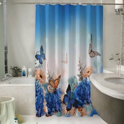 Шторы для ванной «Синие бабочки»