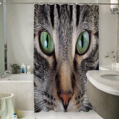 Шторы для ванной «Кошачий взгляд»