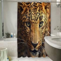 Шторы для ванной «Леопард портрет»