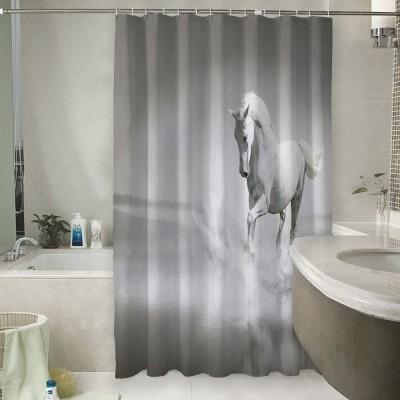 Шторы для ванной «Белый конь бегущий по воде»