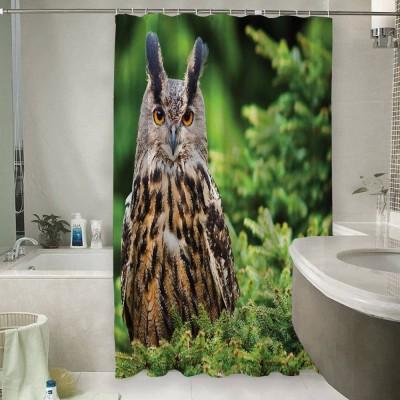 Шторы для ванной «Филин на елке»