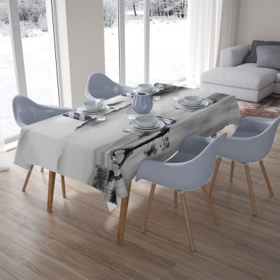 3D скатерти «Туманный пейзаж»