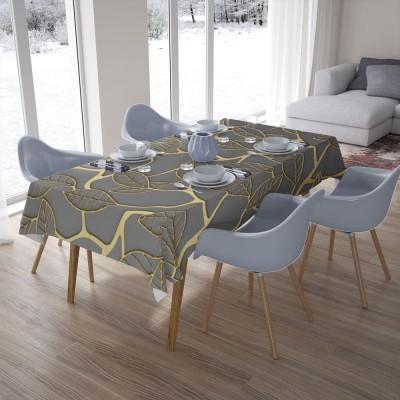 3D скатерти «Узор с золотыми листьями»