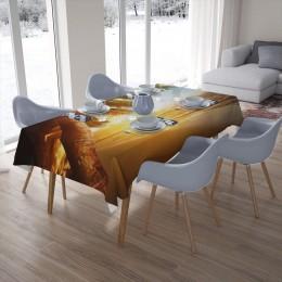 3D скатерти «Закат под пальмами»
