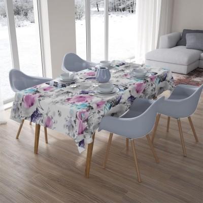 3D скатерти «Акварельные цветы с сиреневым оттенком»