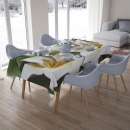 3D скатерти «Зеленые лилии из керамики»