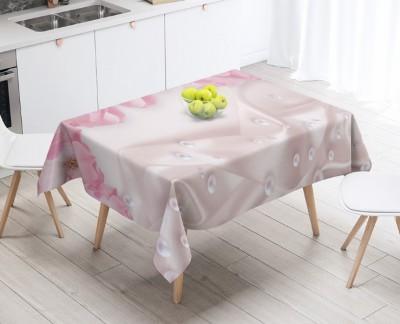 3D Скатерть «Цветочная арка с розовым жемчугом»