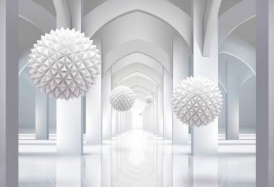 3D Фотообои «Объемная инсталляция в арочном тоннеле»