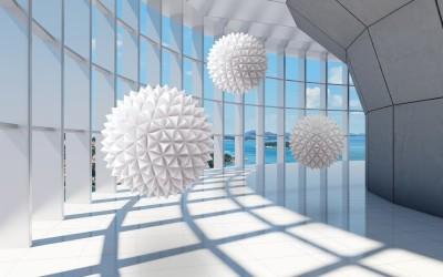 3D Фотообои «Фантастическая терраса»