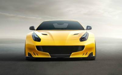 3D Фотообои «Желтый спортивный автомобиль»