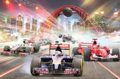 3D Фотообои «Формула 1»