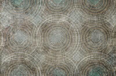 3D Фотообои «Мозаика из окружностей»