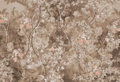 Фотообои «Розовый сад в винтажном стиле»