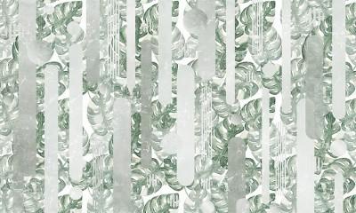3D Фотообои  «Тропическая зелень»