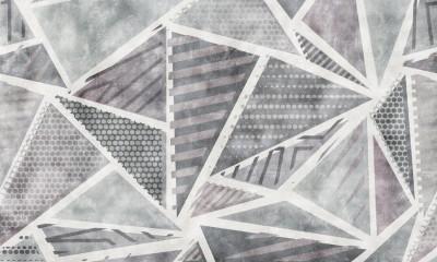 3D Фотообои «Стильные треугольники»