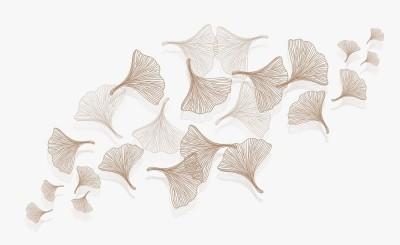 3D Фотообои «Летящие зонтики на светлом»