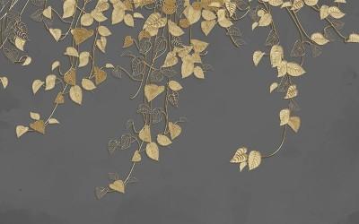 3D Фотообои «Золотые лианы»