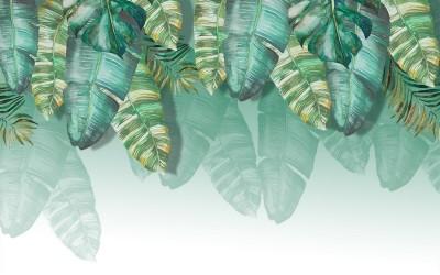 3D Фотообои  «Изумрудная пальма»