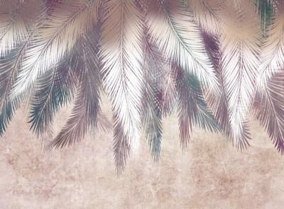 3D Фотообои «Шаль из ярких листьев»