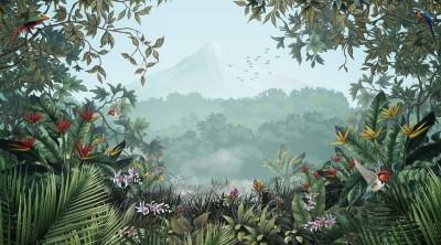 3D Фотообои «Субтропический пейзаж»