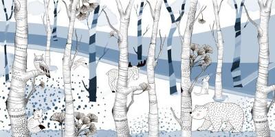 3D Фотообои «Скандинавский лес»